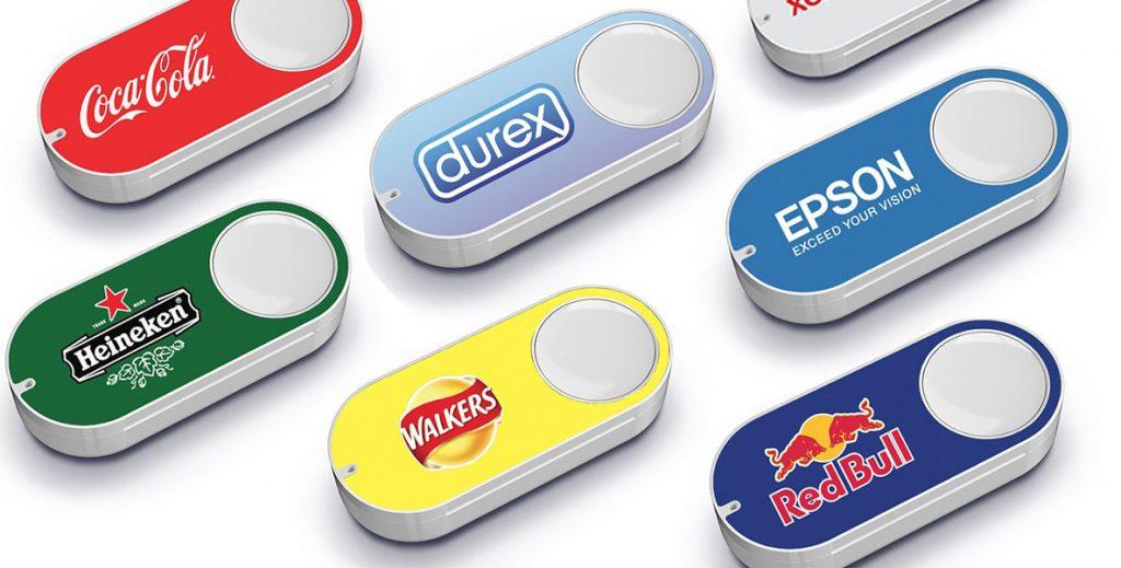 Les nouveaux dash boutons commercialisés par Amazon.