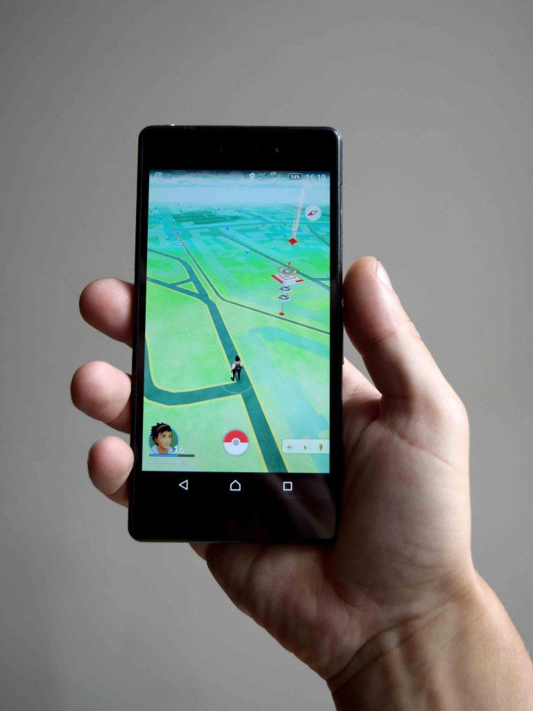 Une image du jeu mobile Pokémon go.
